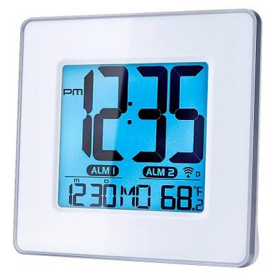 Desktop Digital Atomic Alarm Clock White - Capello®