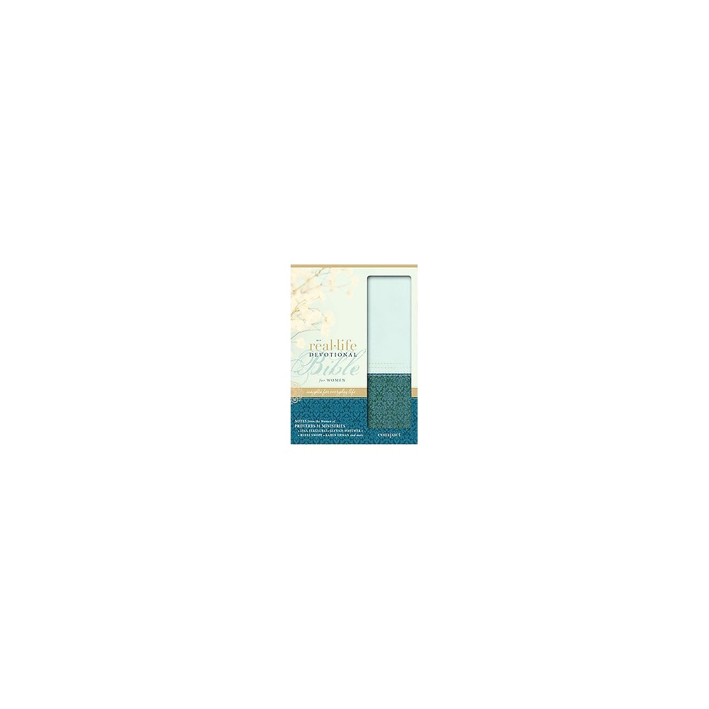 Real-Life Devotional Bible for Women : New International Version, Sea Glass/Caribbean Blue, Italian