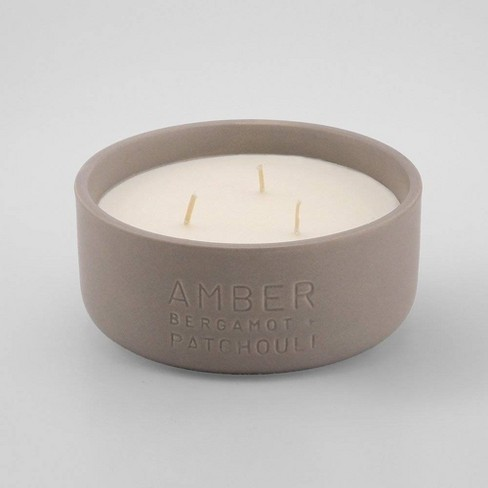 11oz Debossed Ceramic Jar 3-Wick Candle Amber - Bergamot & Patchouli - Project 62™ - image 1 of 1