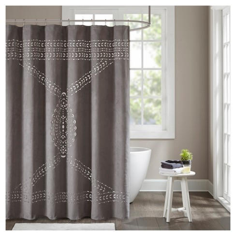 Galaxy Shower Curtain Gray - image 1 of 4