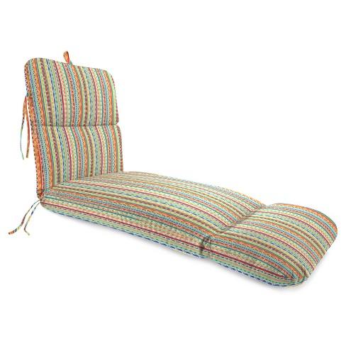 Outdoor Knife Edge Chaise Lounge In Bramlett stripe Carotene - Jordan Manufacturing - image 1 of 2