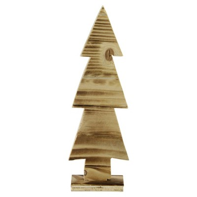 "Northlight 12.5"" Rustic Wood Cut-Out Christmas Tree Table Top Decoration"