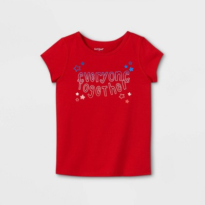 Toddler Girls' Adaptive 4th of July Short Sleeve Graphic T-Shirt - Cat & Jack™ Red
