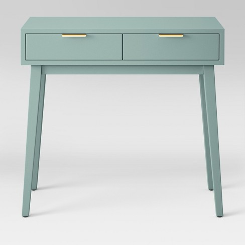 Hafley Two Drawer Console Table Smoke Green Project 62