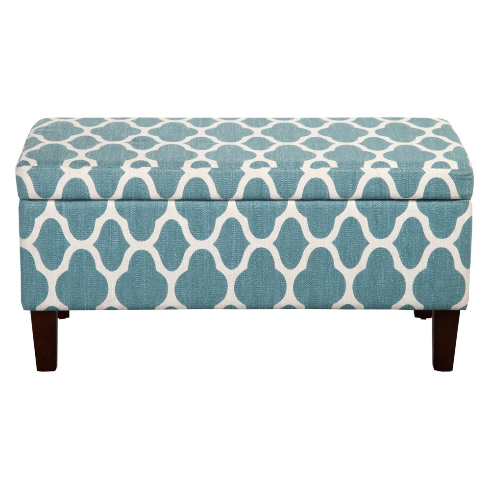 Homepop Geo Brights Collection Storage Bench - Teal Blue was $179.99 now $134.99 (25.0% off)