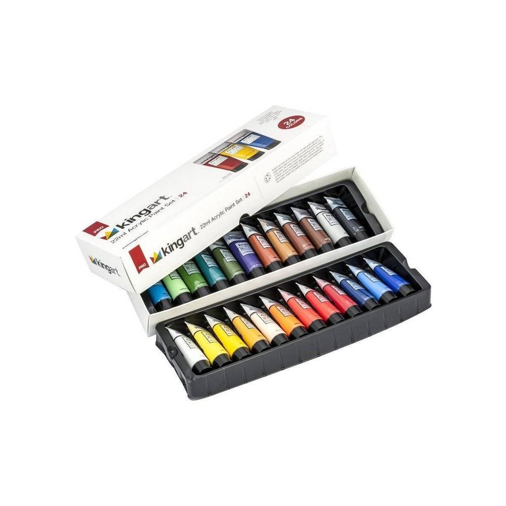 Image of Kingart 24ct 22ml Acrylic Paint Set