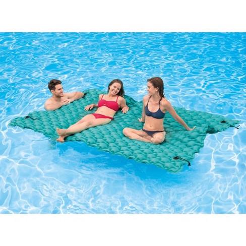 Intex 56841EP Giant Inflatable Floating Water Pool Lake Mat Platform Pad, Teal - image 1 of 4
