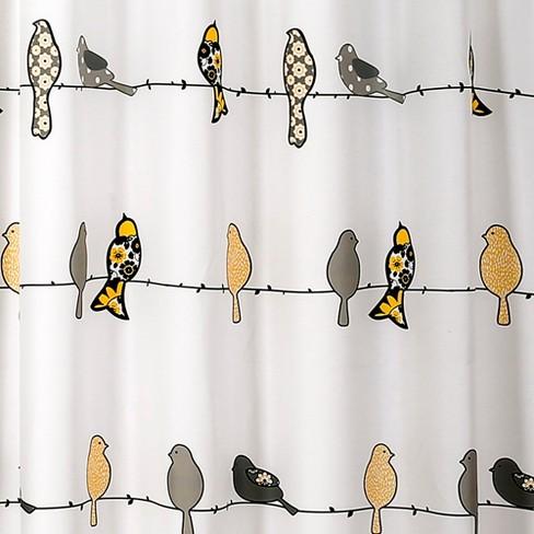 Lush Decor Bird Shower Curtain Yellow Target