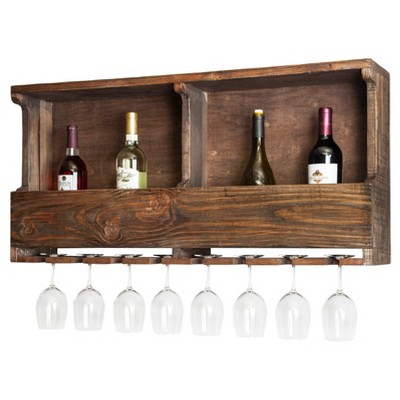"""36"""" Wine Rack Hardwood Brown - Alaterre Furniture"""