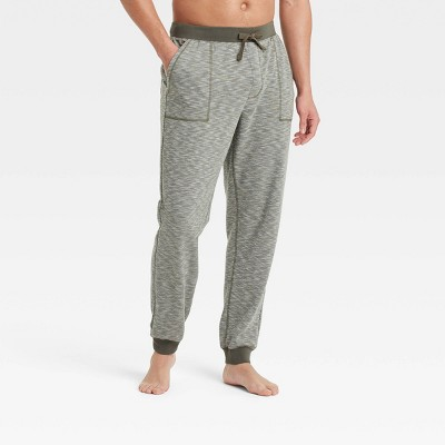 Men's Double Weave Jogger Pajama Pants - Goodfellow & Co™ Olive