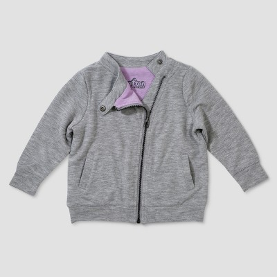 Baby Girls' Afton Street Long Sleeve Moto Jacket - Heather Gray 3-6M