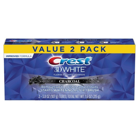 Crest 3D White Charcoal Teeth Whitening Toothpaste - 3.8oz/2pk - image 1 of 4