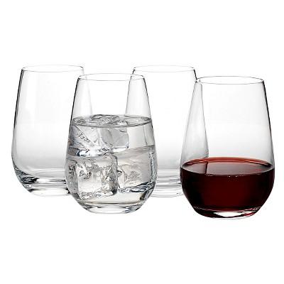 Vivo Voice by Villeroy & Boch Group Crystal Stemware 12oz 4pk Stemless Wine Glasses