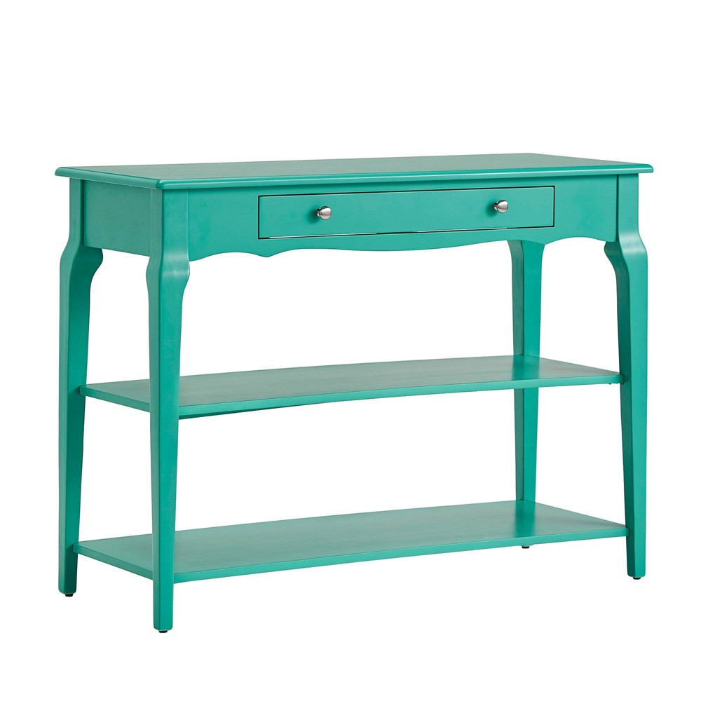 Muriel Console Table TV Stand with Shelves Marine Green - Inspire Q