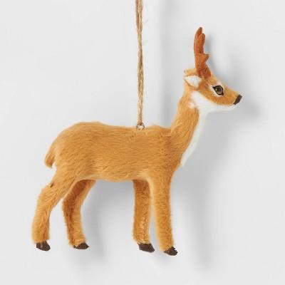 Faux Fur Forest Animal Christmas Tree Ornament - Wondershop™