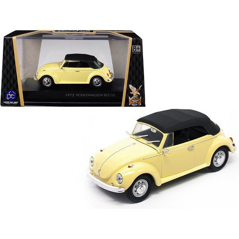 1972 Volkswagen Beetle Closed Top Yellow 1/43 Diecast Model Car by Road Signature - image 1 of 1