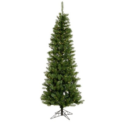 9.5ft Dura-Lit Salem Pencil Pine Slim Artificial Tree Incandescent Clear - Vickerman