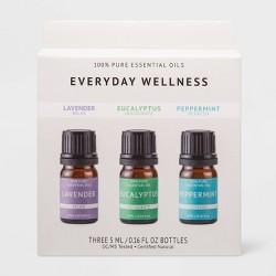 0.1 fl oz 3pk Essential Oil Pack Lavender/Eucalyptus/Peppermint - Project 62™