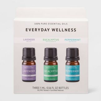 0.1 fl oz 3pk Essential Oil Pack Lavender/Eucalyptus/Peppermint - Project 62™