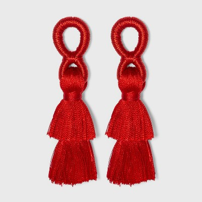 SUGARFIX by BaubleBar Stacked Tassel Earrings