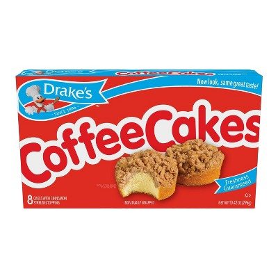 Drake's Coffee Cakes with Cinnamon Streusel Topping - 10.42oz/8ct