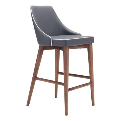 """Wing Back Faux Leather 26"""" Counter Height Barstool - ZM Home"""