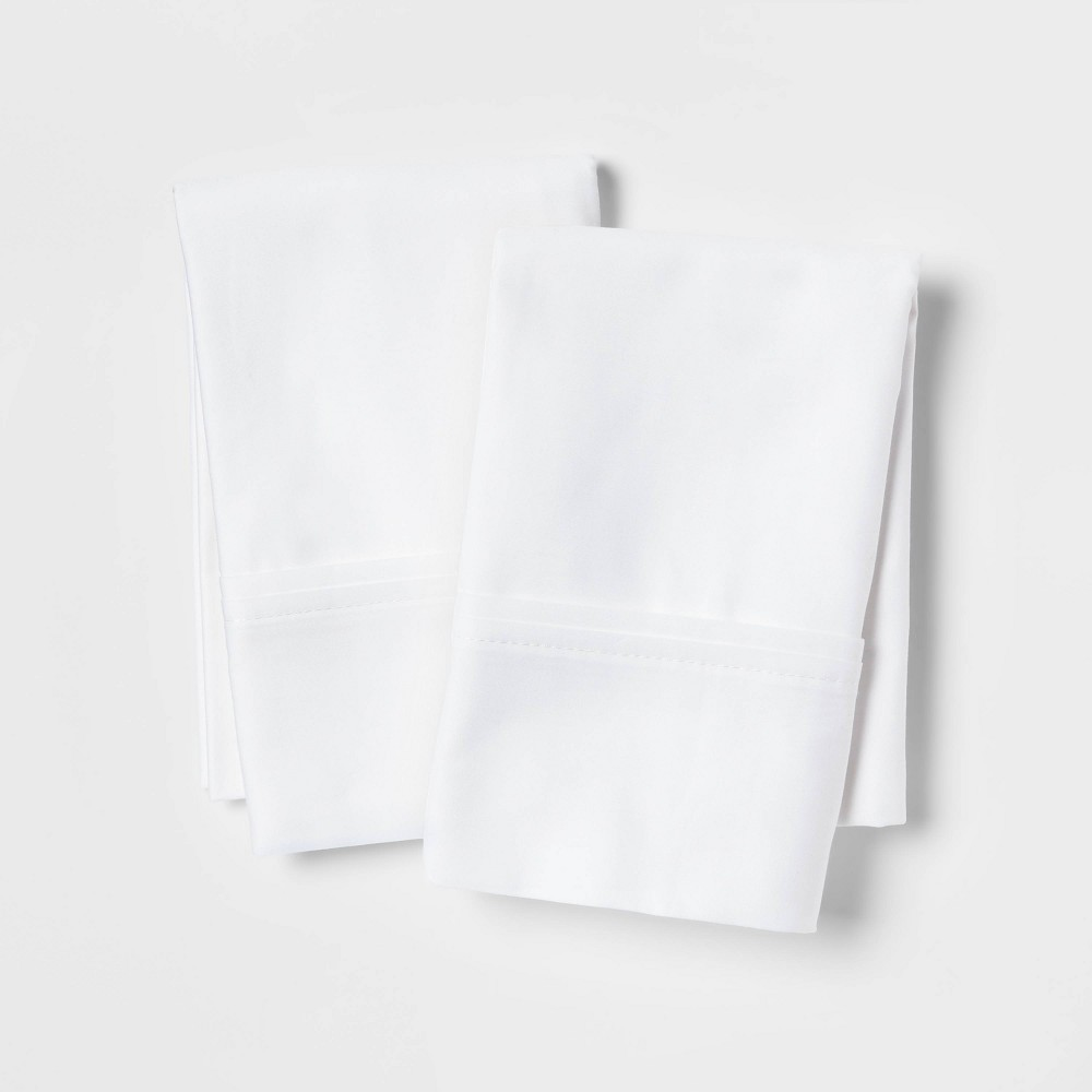 Standard Queen 400 Thread Count Solid Performance Pillowcase Set White Threshold 8482