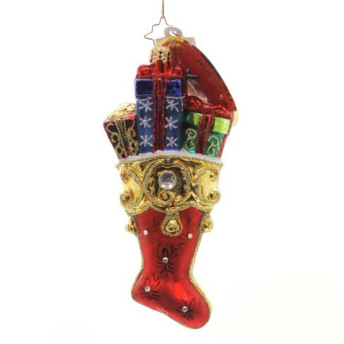 "Christopher Radko 6.25"" Fancy Footwear Christmas Ornament Presents - image 1 of 2"