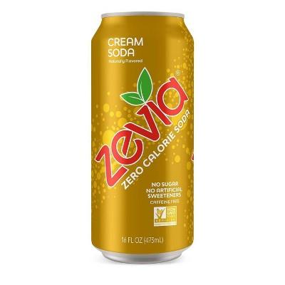 Zevia Cream Soda Zero Calorie Soda - 16 fl oz Can