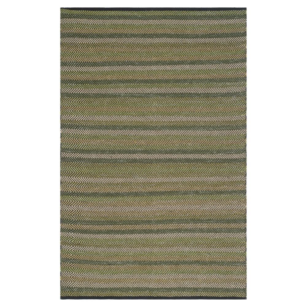 Striped Kilim Rug Green 5 39 X8 39 Safavieh