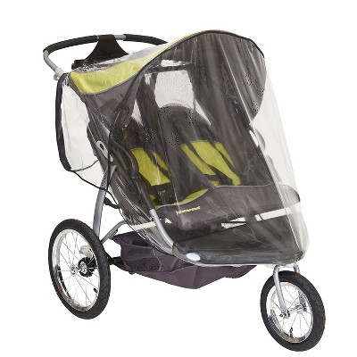 Sasha's Rain Shield and Wind Cover For Baby Stroller, Compatible with Baby Trend Expedition Double Jogger