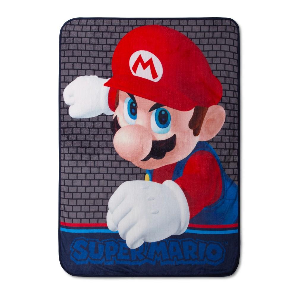 "Image of ""Nintendo Mario 46""""x60"""" Throw Blankets"""