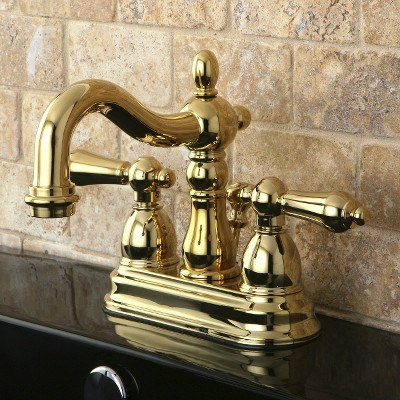 Heritage Bathroom Faucet Polished Brass - Kingston Brass