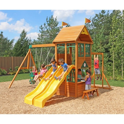 Super Kidkraft Ryerson Wooden Swing Set Playset Frankydiablos Diy Chair Ideas Frankydiabloscom