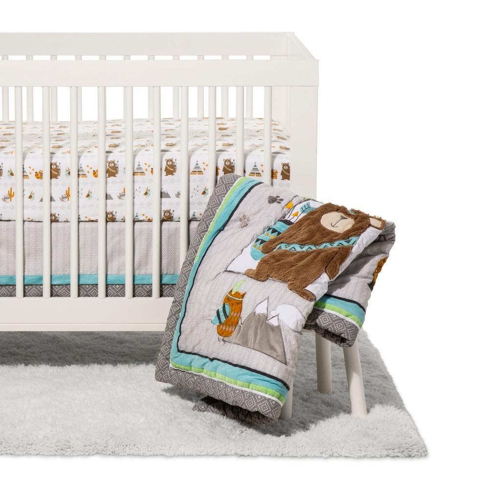 Image of Trend Lab 3pc Crib Bedding Set - Lodge Buddies