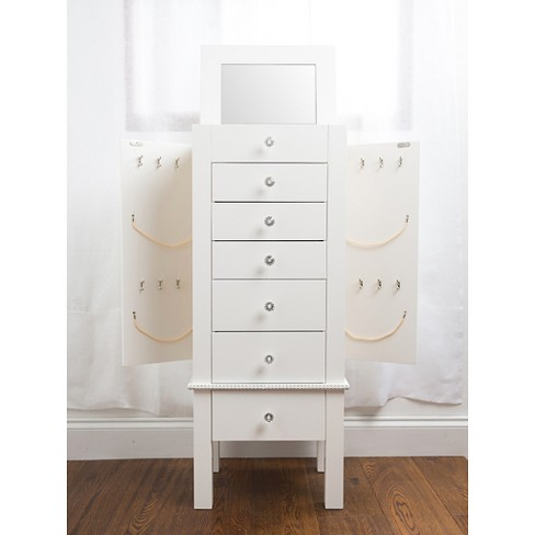 Crystal Jewelry Armoire White Hives Honey
