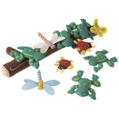 Marvel Education Co Five Green and Speckled Frogs Puppet and Props, set of 11