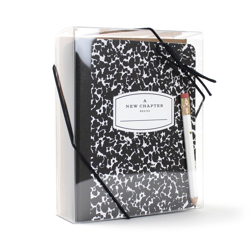 """Image of """"""""""""A New Chapter"""""""" School Year Time Capsule Cards, White Black"""""""