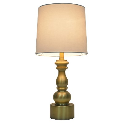 Turned Table Lamp with Touch On/Off Gold - Pillowfort™