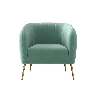 Meath Barrel Chair Velvet - Handy Living