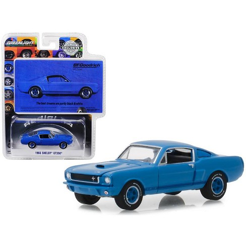 1966 Ford Mustang Shelby Gt350 Blue Bfgoodrich Vintage Ad Cars Hobby Exclusive 1 64 Cast Model Car By Greenlight Target