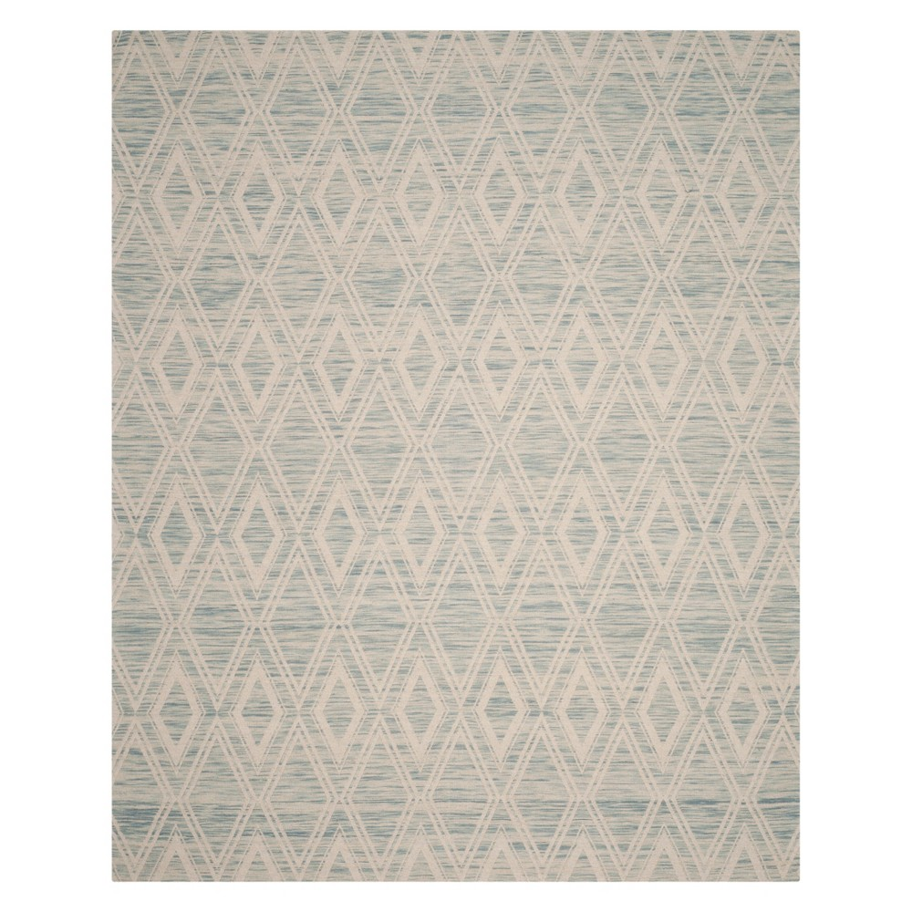 8'X10' Geometric Area Rug Light Blue/Ivory - Safavieh