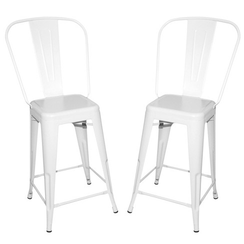 24 Sadie Set Of 2 Counter Stool White Carolina Target