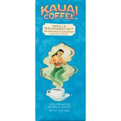 Kauai Coffee Vanilla Macadamia Nut Medium Roast Ground Coffee - 10oz