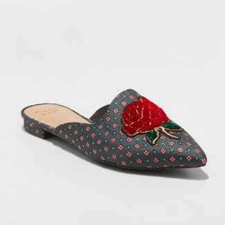 2d8e851535b Women s Remy Plaid Backless Loafers – A New Day™ Gray 9 – Target ...