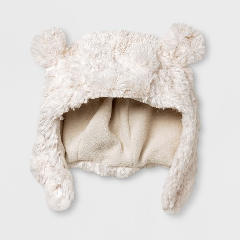 4967bc3dd41 Baby Boys  Polar Bear Trapper Hat - Cat   Jack™ White   Target