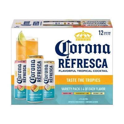 Corona Refresca Spiked Tropical Cocktail Variety Pack- 12pk/12 fl oz Slim Cans