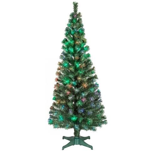 philips 6ft prelit artificial christmas tree led fiber optic slim