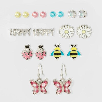 Girls' Happy Bees and Flower Earrings - Cat & Jack™