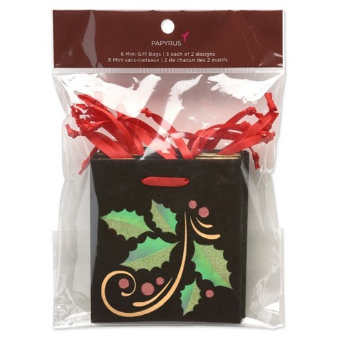 6ct Christmas Contemporary Gift Bag with Tissue Paper : Target